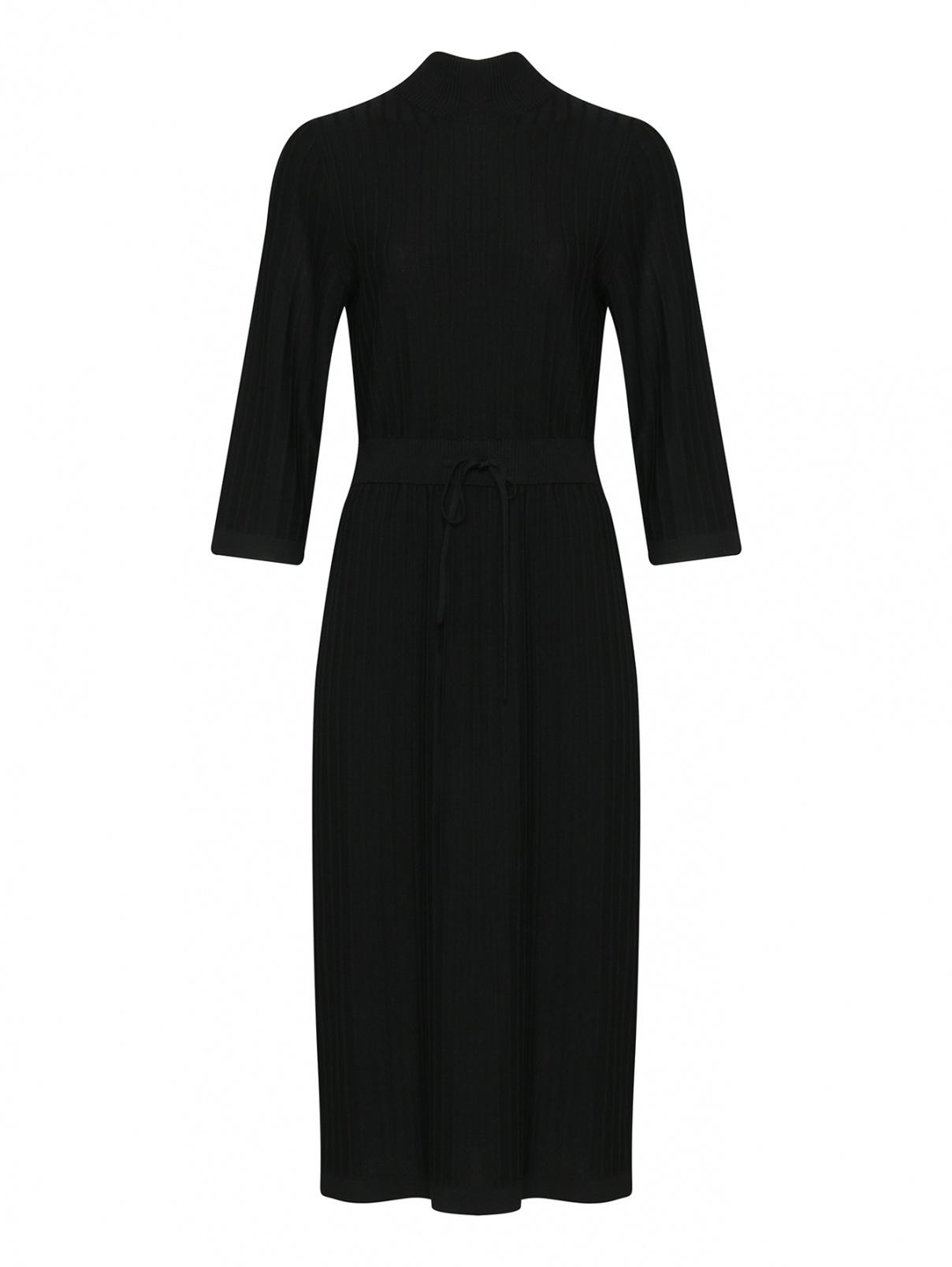 Платье трикотажное из шерсти A.P.C.  –  Общий вид  – Цвет:  Черный