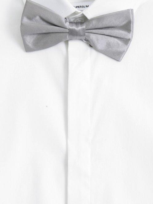 Набор из пояса и галстука-бабочки из шелка  - Общий вид