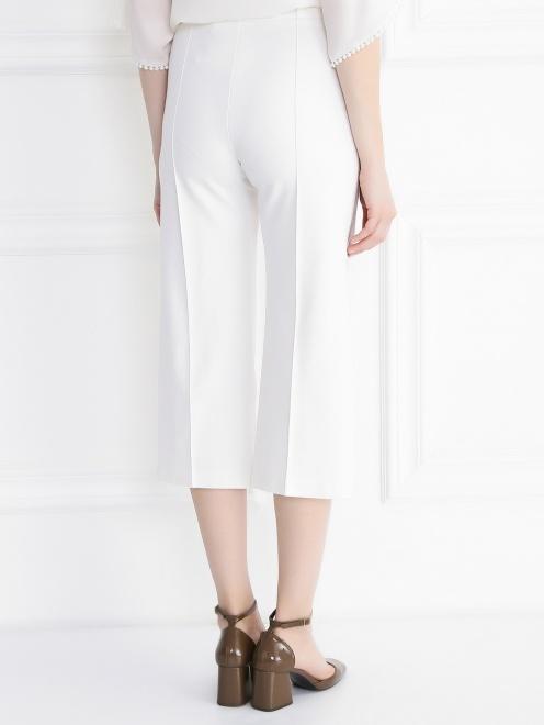 Укороченные брюки с контрастными лампасами - Модель Верх-Низ1