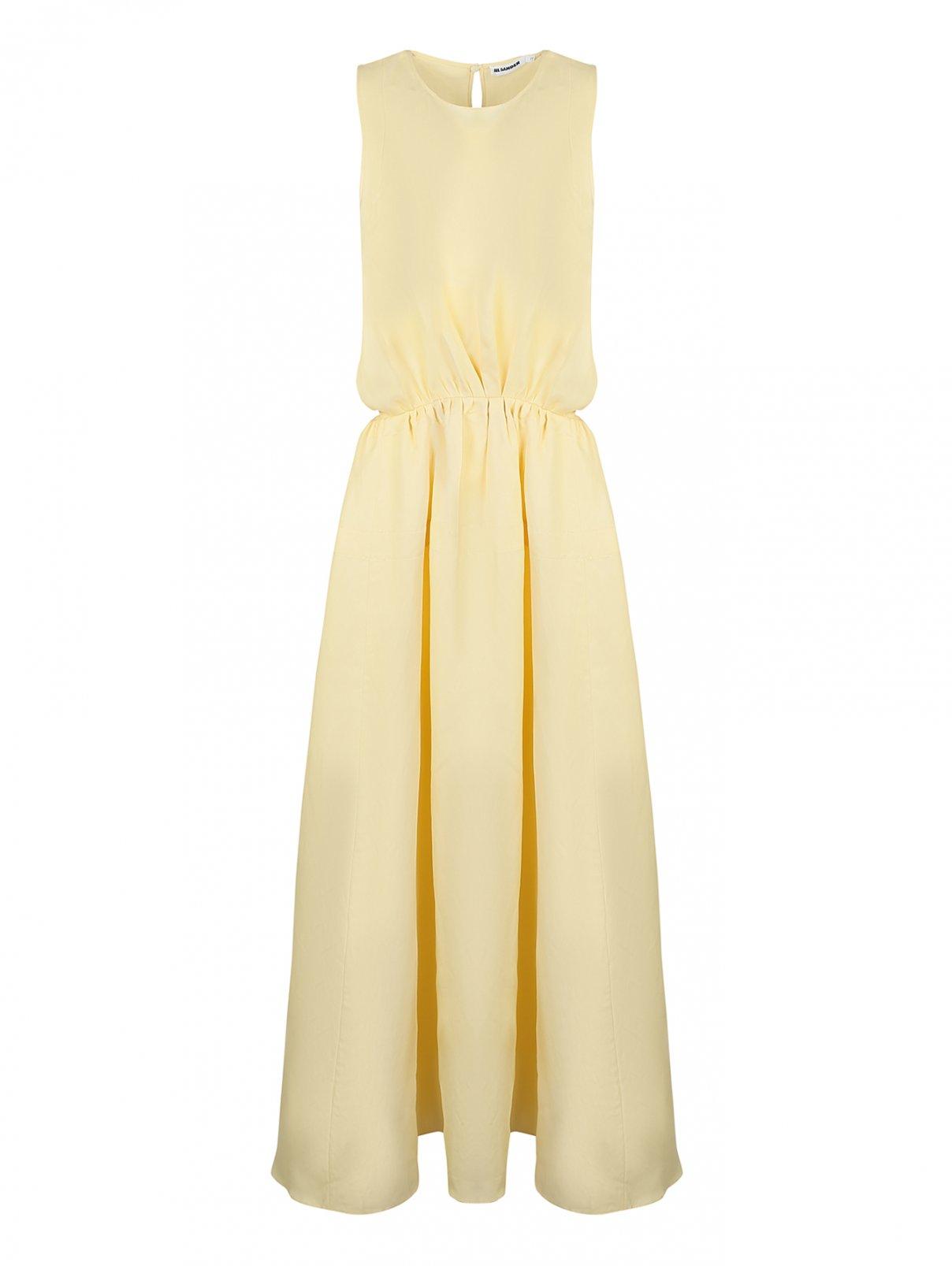Платье-макси, со сборкой , из вискозы Jil Sander  –  Общий вид