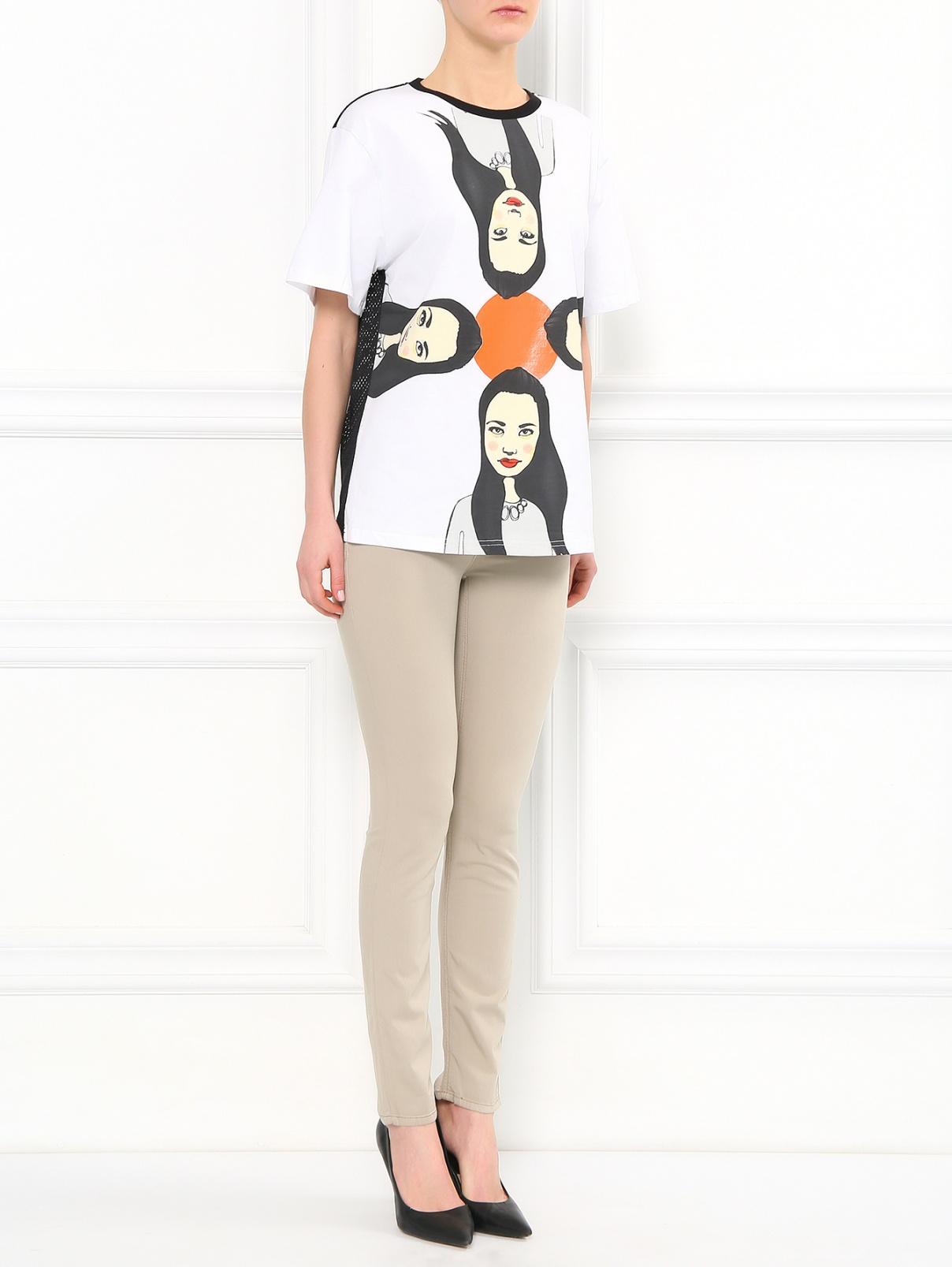 Узкие брюки из смешанного хлопка Max&Co  –  Модель Общий вид