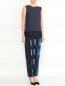 Укороченные узкие брюки с узором Kenzo  –  Модель Общий вид