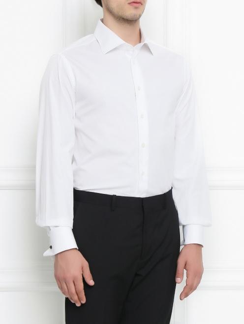 Сорочка под запонки из хлопка - Модель Верх-Низ