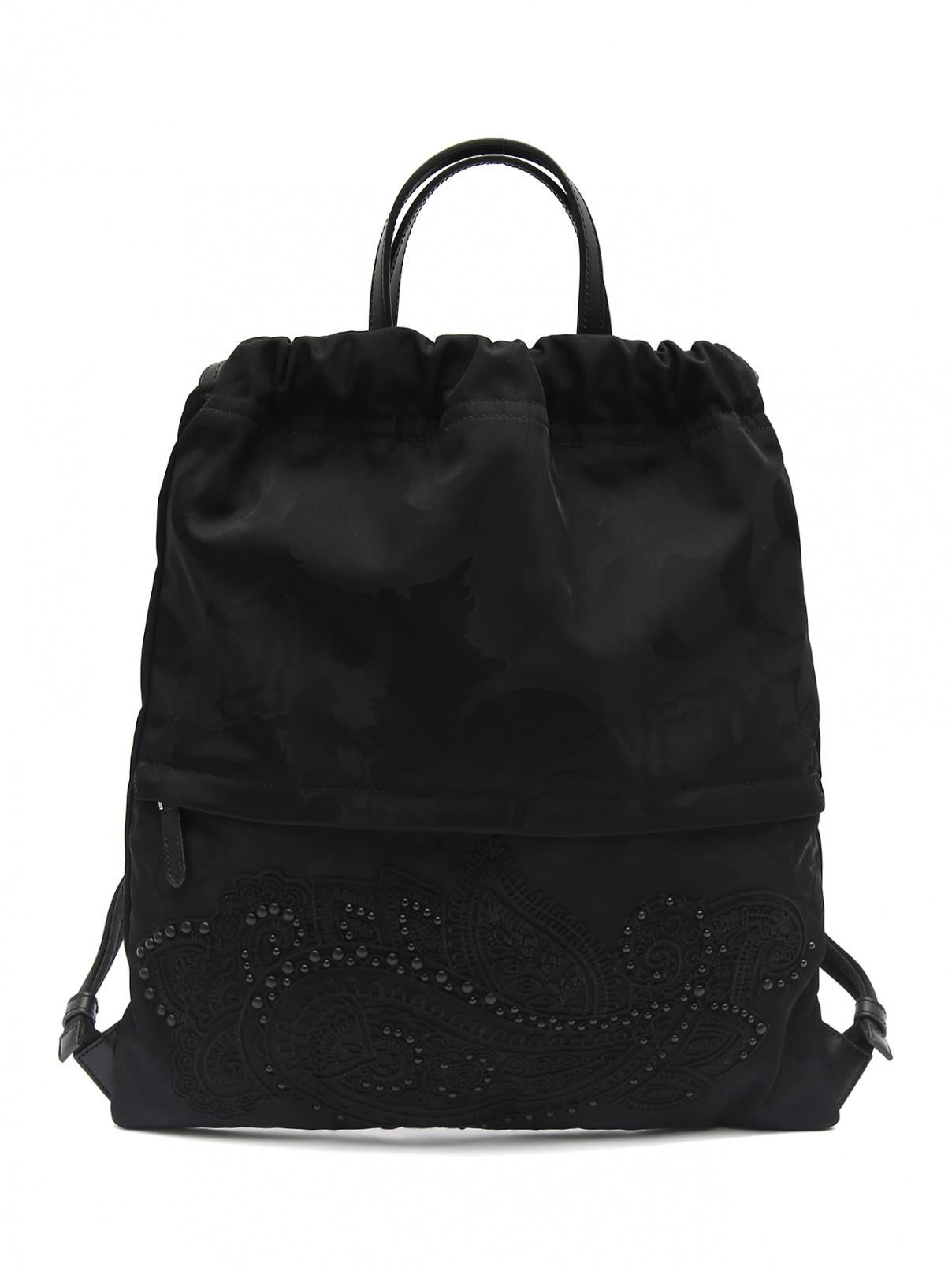 Рюкзак с узором Etro  –  Общий вид  – Цвет:  Черный