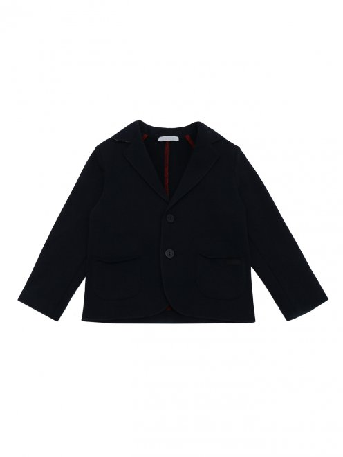 Пиджак трикотажный с карманами - Общий вид