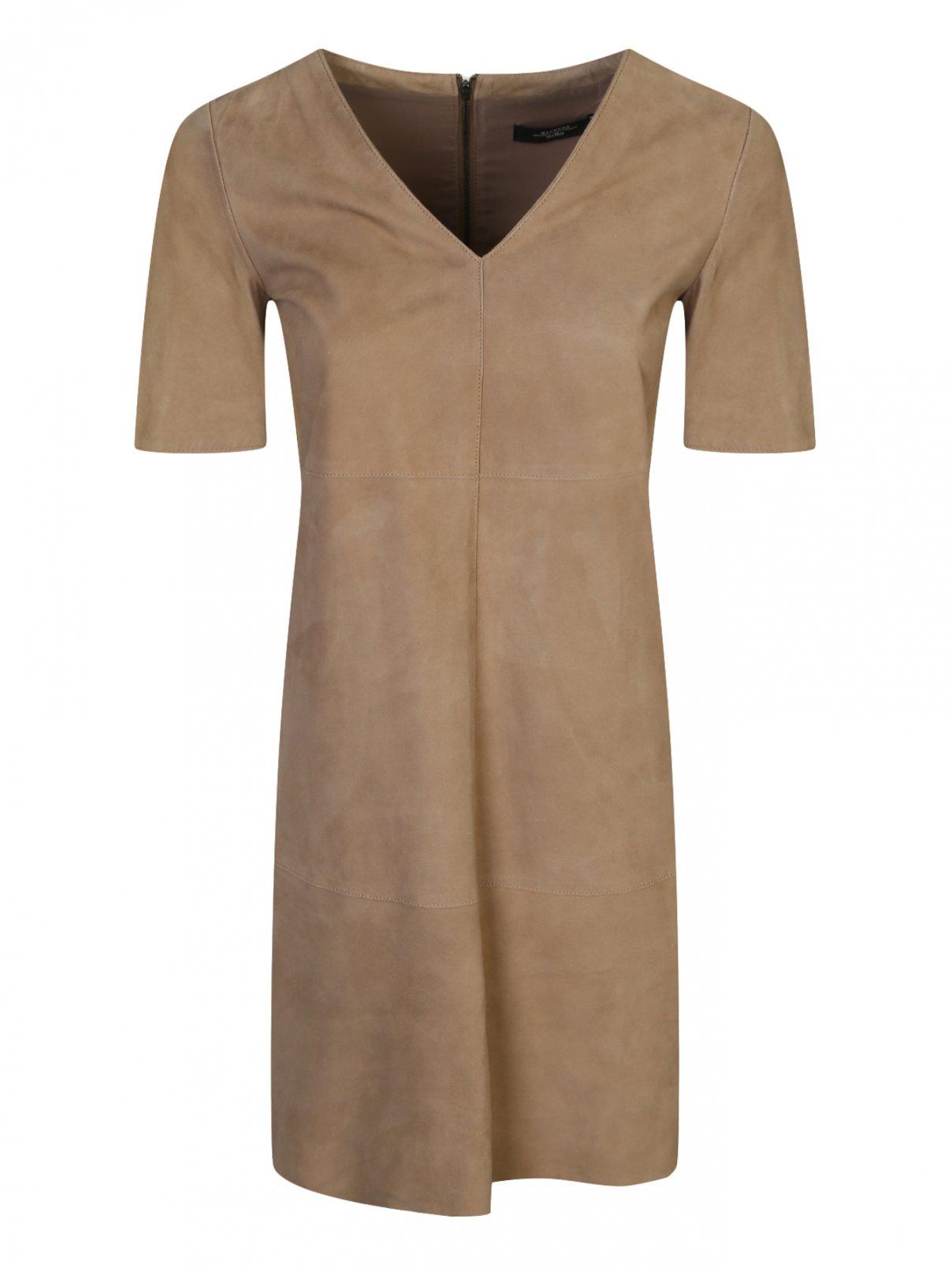 Платье из замши прямого кроя Weekend Max Mara  –  Общий вид