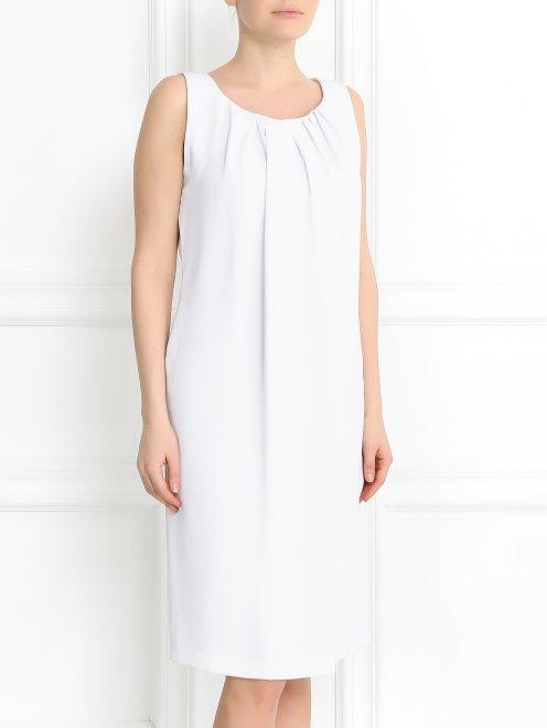 Платье свободного кроя с драпировкой - Модель Верх-Низ