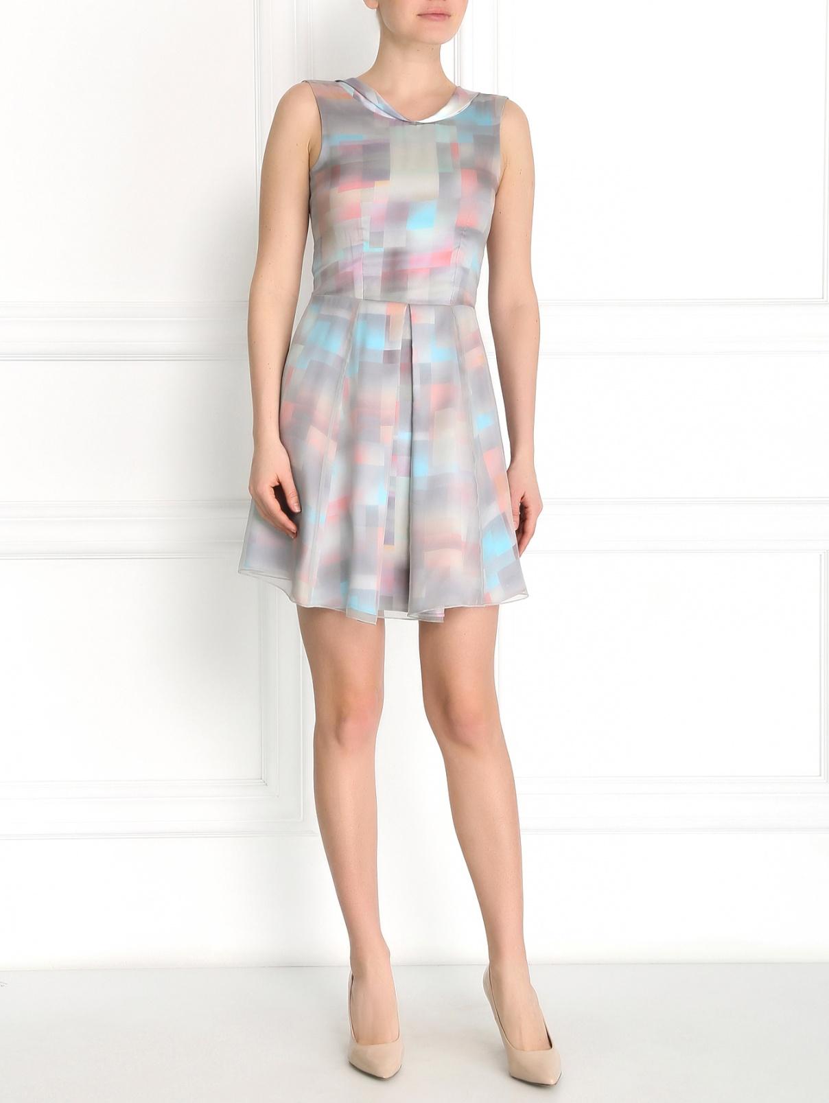 Платье из шелка с узором Emporio Armani  –  Модель Общий вид