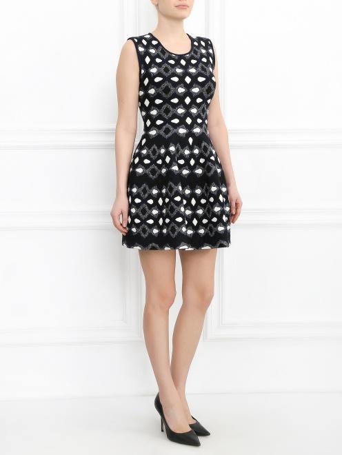Платье-мини с узором  - Общий вид