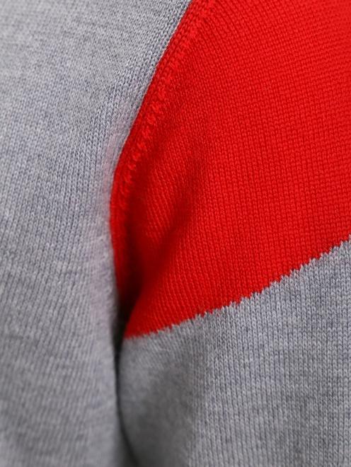 Джемпер из шерсти с декором на рукавах - Деталь