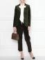 Жакет вельветовый с накладным карманом Brooks Brothers  –  МодельОбщийВид