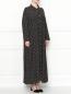 Платье свободного кроя с цветочным узором Persona by Marina Rinaldi  –  МодельВерхНиз