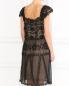 Платье из шелка и хлопка с кружевными вставками Alberta Ferretti  –  Модель Верх-Низ1