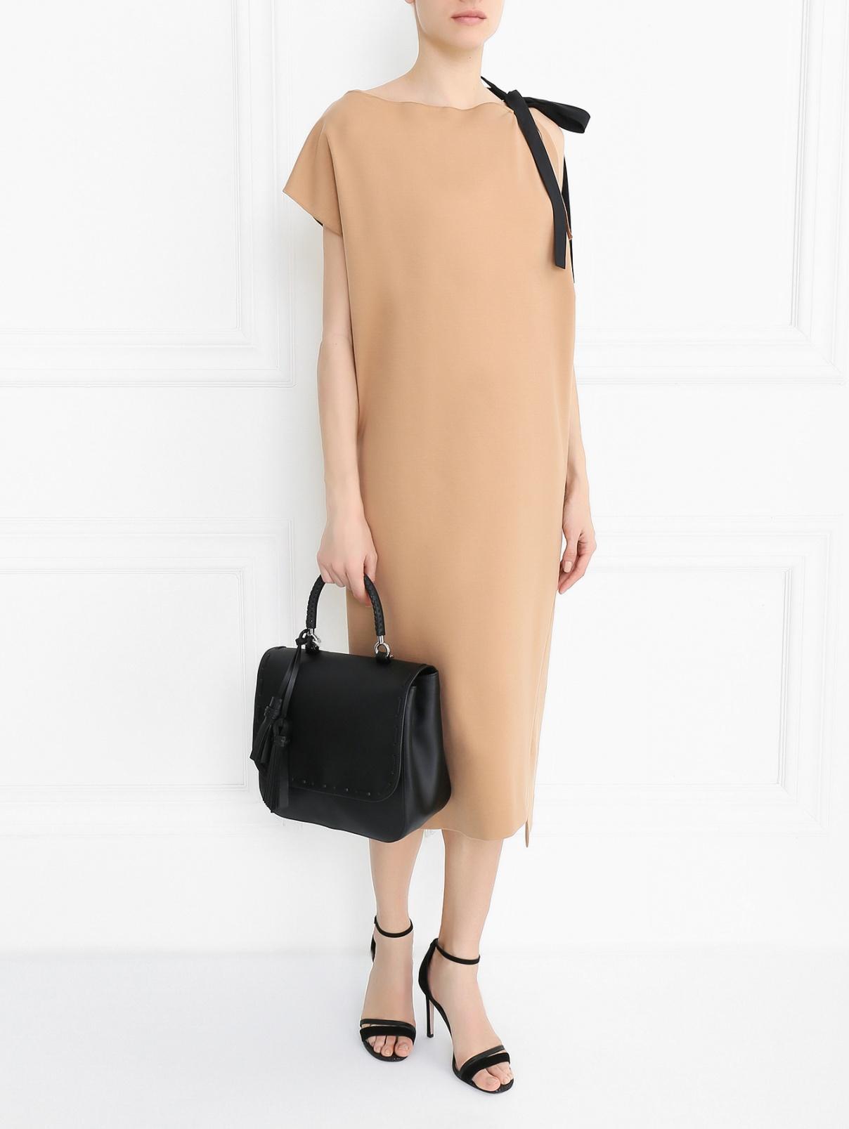 Трикотажное платье асимметричного кроя Jil Sander  –  Модель Общий вид