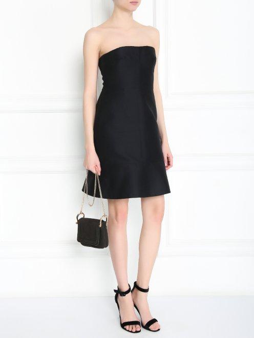 Платье-мини из смешанного шелка - Модель Общий вид
