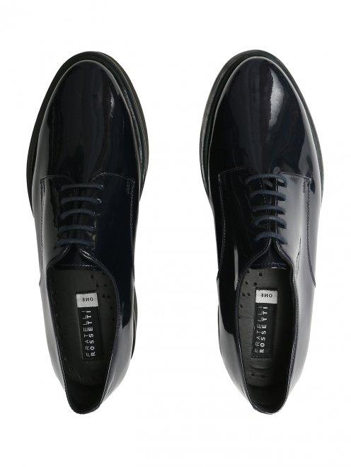 Ботинки из лакированной кожи на платформе - Обтравка4