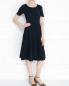 Платье из хлопка с узорной вязкой Brooks Brothers  –  Модель Общий вид