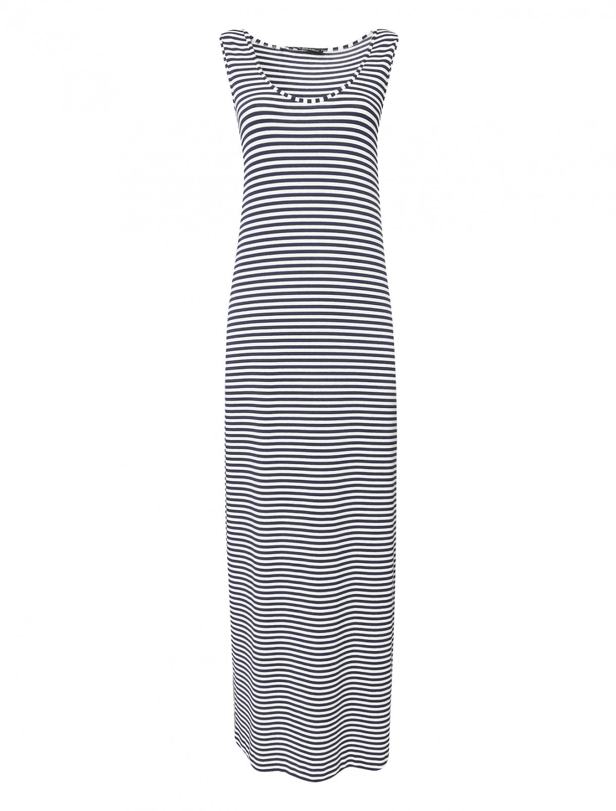 Платье-макси с узором полоска Pietro Brunelli  –  Общий вид