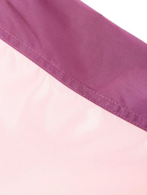 Платье-миди с контрастной отделкой - Деталь