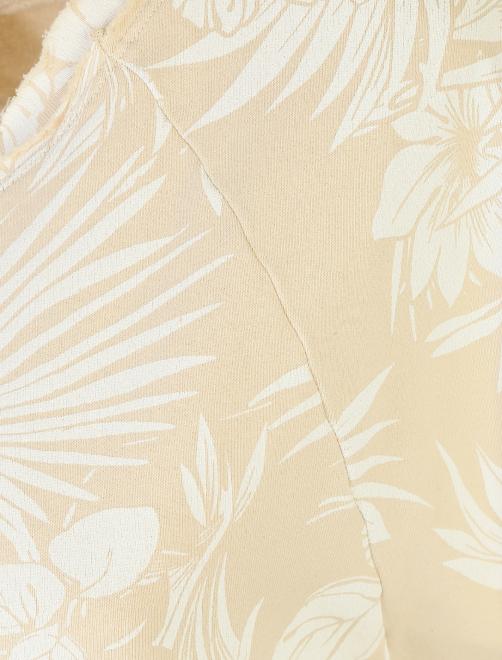 Платье хлопковое с цветочным узором - Деталь