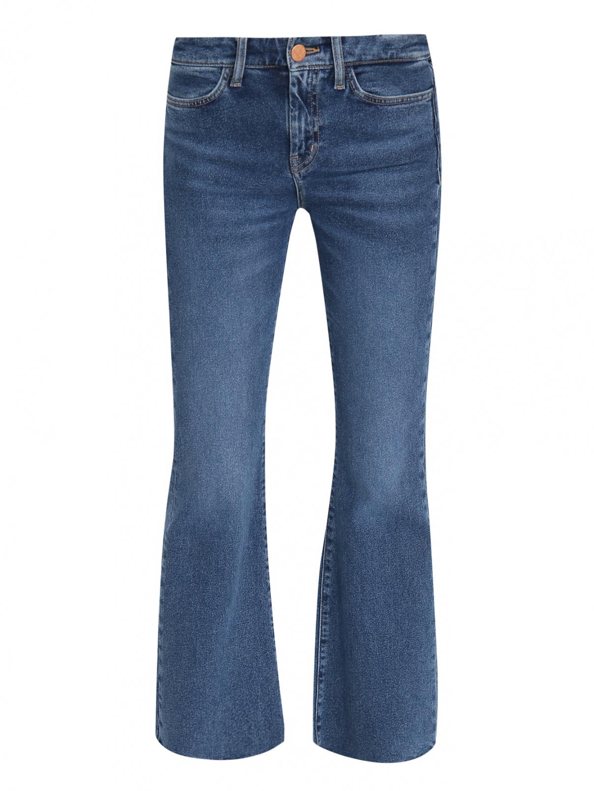 Широкие укороченные джинсы из темного денима M.i.h Jeans  –  Общий вид  – Цвет:  Синий