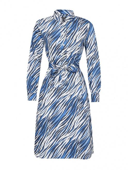 Платье из хлопка с узором  - Общий вид