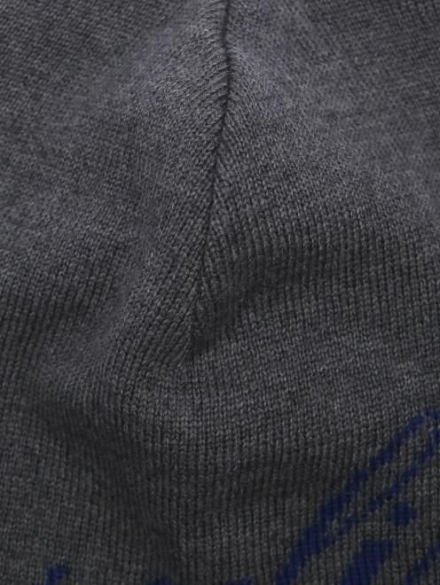 Шапка из шерсти с узором - Деталь1