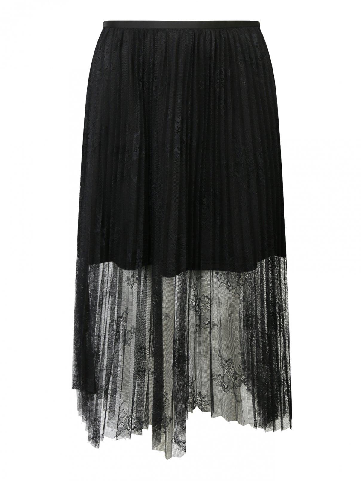 Полупрозрачная юбка с кружевным узором Mo&Co  –  Общий вид