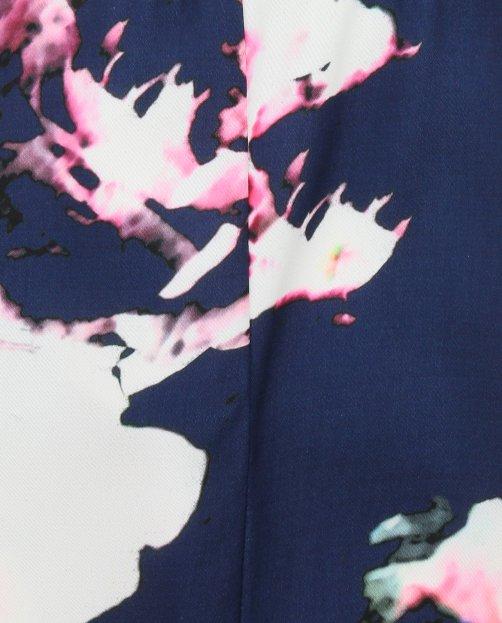 Брюки с цветочным узором и боковыми карманами - Деталь2