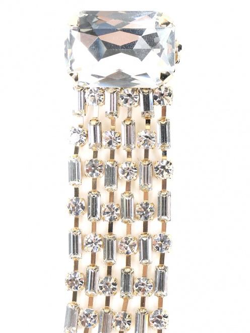 Брошь из металла декорированная кристаллами - Деталь