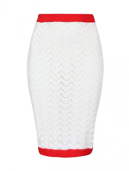 Трикотажная юбка-карандаш из хлопка - Общий вид