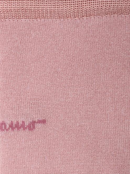 Носки шелковые с логотипом  - Деталь1