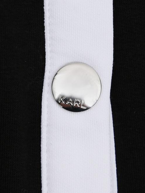 Кардиган трикотажный на кнопках - Деталь