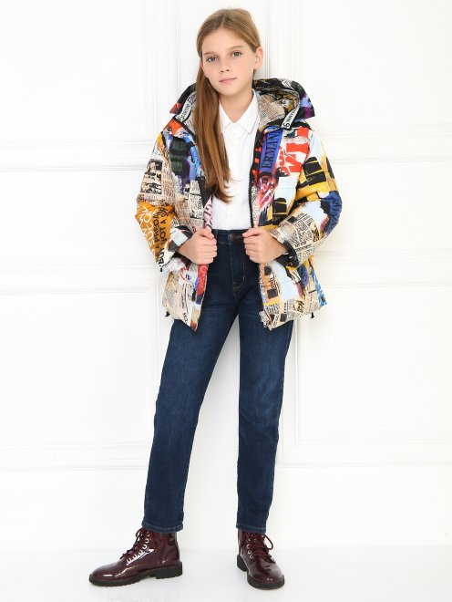 Куртка на молнии с узором - Общий вид