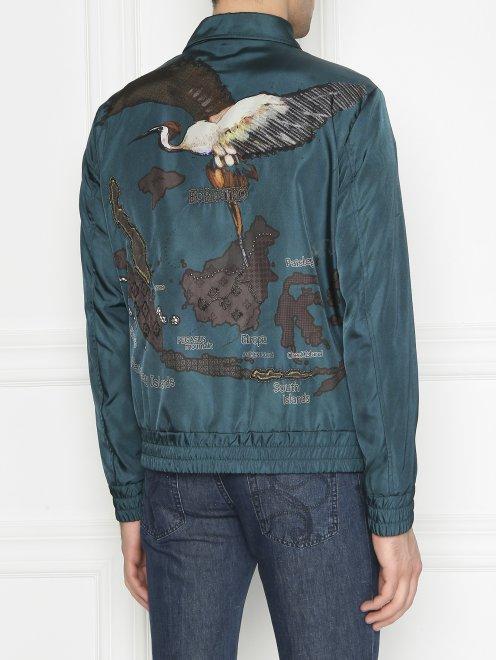 Куртка на молнии с аппликацией - МодельВерхНиз1