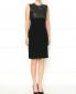 Платье-футляр с отделкой из кожи ягненка Jean Paul Gaultier  –  Модель Общий вид