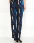 Укороченные узкие брюки с узором Kenzo  –  Модель Верх-Низ1