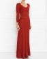Платье-макси с рукавом 3/4 Alberta Ferretti  –  Модель Верх-Низ