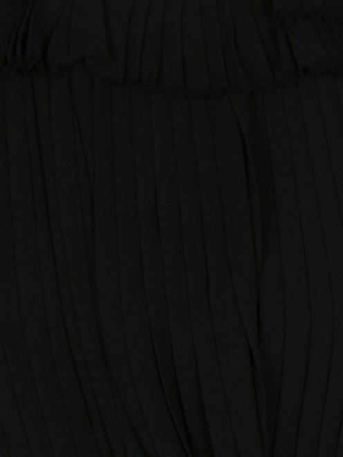 Платье из шелка декорированное кристаллами - Деталь