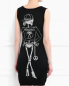 Трикотажное платье-мини с узором Moschino Couture  –  Модель Верх-Низ1