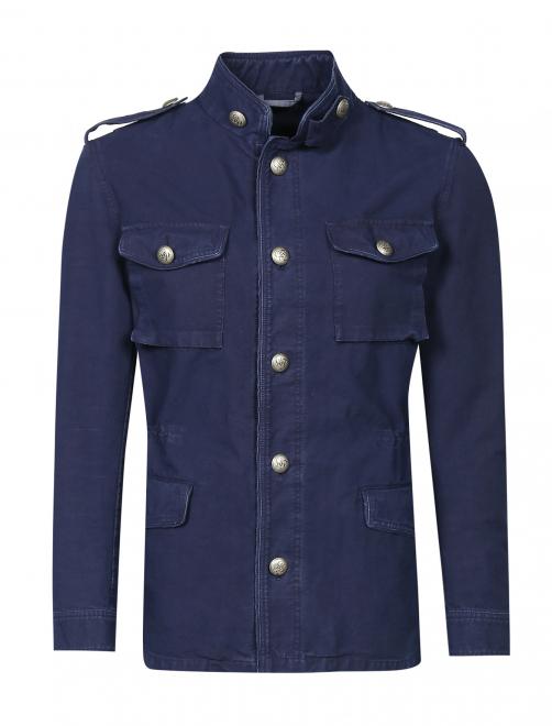 Куртка из хлопка на пуговицах  - Общий вид