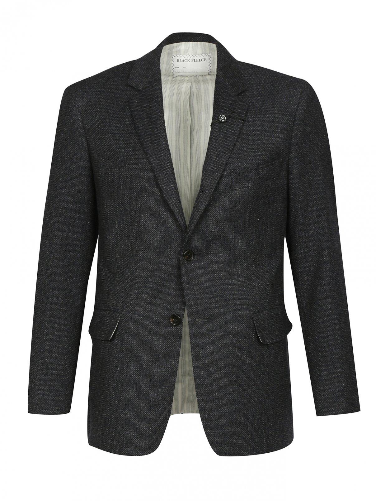 Однобортный пиджак из шерсти и шелка Brooks Brothers  –  Общий вид