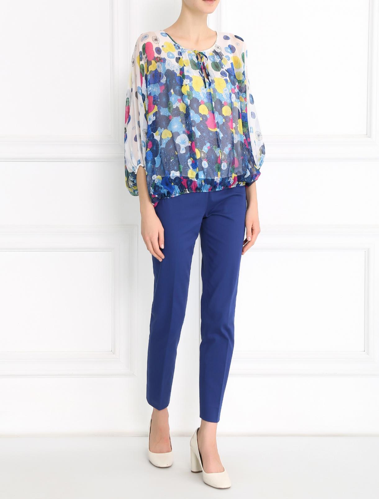 Блуза из шелка с узором Diane von Furstenberg  –  Модель Общий вид  – Цвет:  Узор
