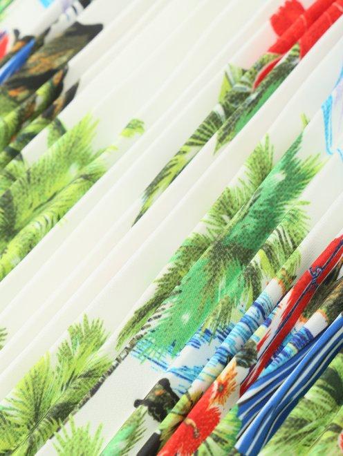 Юбка А-силуэта с цветочным узором - Деталь
