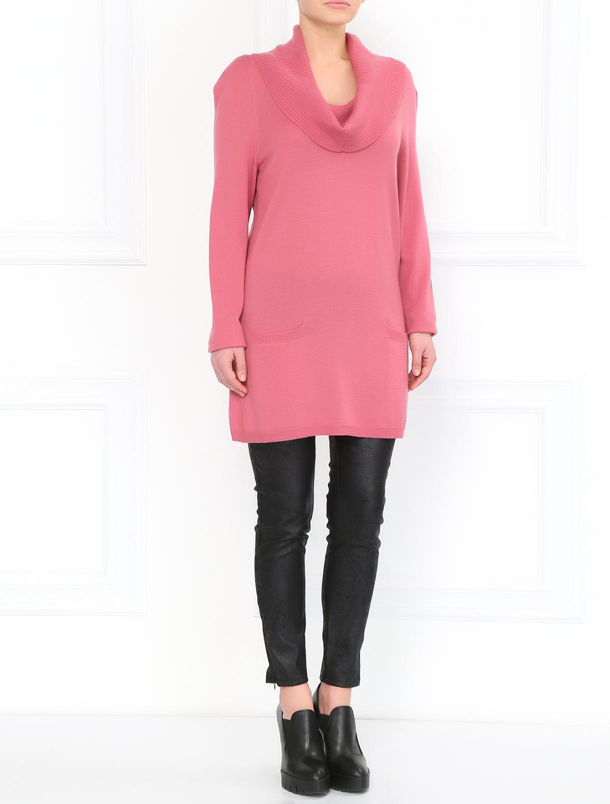 Джемпер из шерсти с боковыми карманами Moschino Cheap&Chic  –  Модель Общий вид