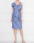 Платье из хлопка с узором полоска Moschino Boutique  –  МодельОбщийВид