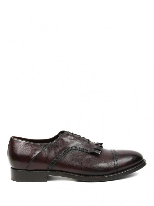 Ботинки из кожи с бахромой  - Обтравка1