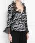 Блуза декорированная пайетками Mariella Burani  –  Модель Верх-Низ