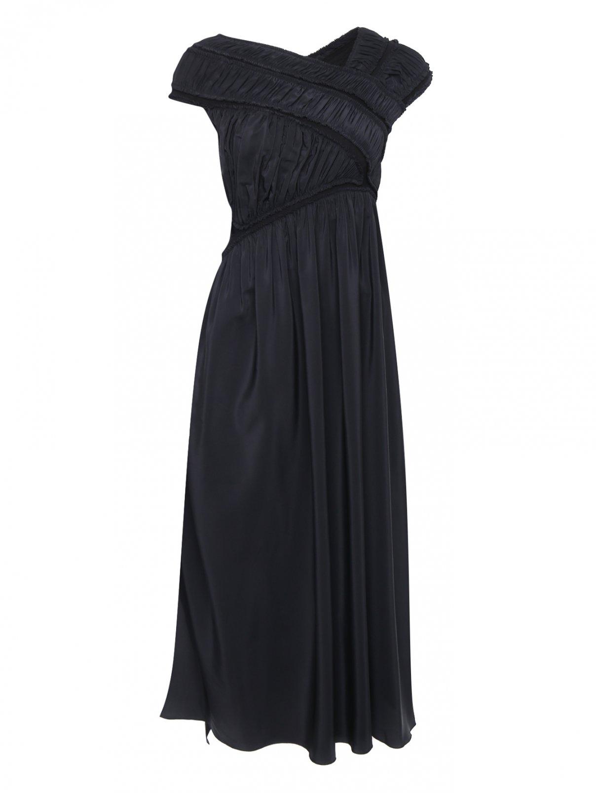 Платье из шелка с драпировкой Jil Sander  –  Общий вид