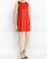 Платье-мини из кожи с декором DROMe  –  Модель Общий вид